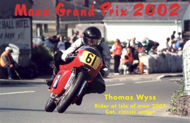 Thomas Wyss im Renneinsatz auf Norton Domiracer 750 bei Grab the Flag