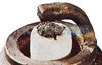 Velas de Ignição - eletrodo central derretido