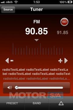 Aplicativo para auto rádio LG no iPhone