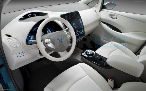 Nissan Leaf interior - carro elétrico