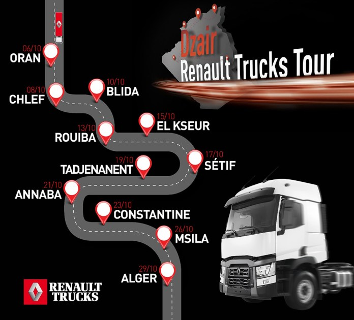 DZAIR RENAULT TRUCKS TOUR 2019