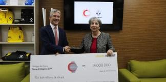 Renault Algérie remet un chèque de 18 millions de dinars au Croissant Rouge Algérien