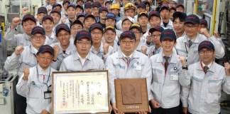 Toyota reçoit le 66e prix Okochi Memorial catégorie Production, pour sa technique inédite de coulée d'aluminium plus écologique