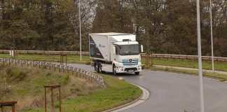 Premier camion électrique Mercedes-Benz sur les routes Belges