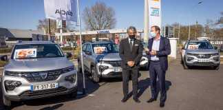 2021 - E.Leclerc Location accueille dans ses agences les premires Dacia Spring 100% lectriques (1)