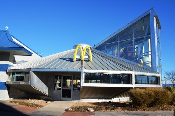 El McDonalds de Roswell tiene forma de platillo volador.