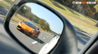 Lamborghini Aventador In The Mirror - Virginia | Motor Speed News Photography