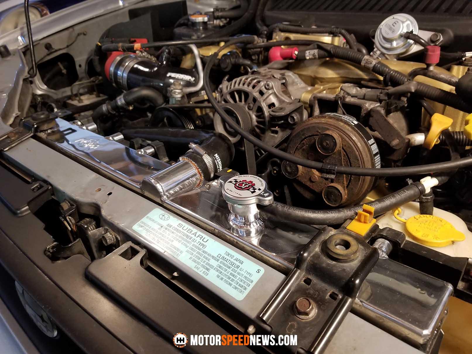 Adding A CSF Radiator To The 02 WRX - Motor Speed News