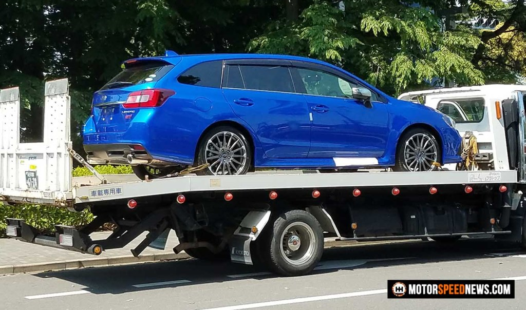 Mitaka Subaru In Japan - Levorg STI delivery