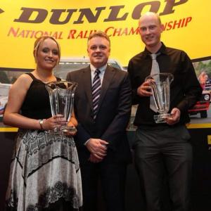 Myself, Damian and Steve Lynch from Dunlop at the         Dunlop National Rally Championship Awards night in November             Image from CRS Pics