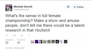 Michela Cerruti Tweet