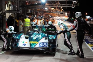 Action in the pits!
