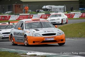 Double Supercar winner Dave O'Brien cocks a wheel. Image from James Foley
