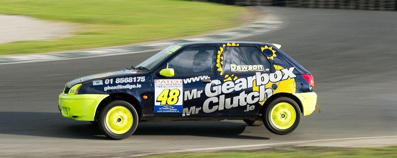 The Patch Tyre Equipment/Naas Court Hotel Series takes place over two dates- Nov 1st and Nov 22nd. Both at Mondello Park in Kildare. Cars are standard Fiesta Zetecs with just a few safety modifications allowed.