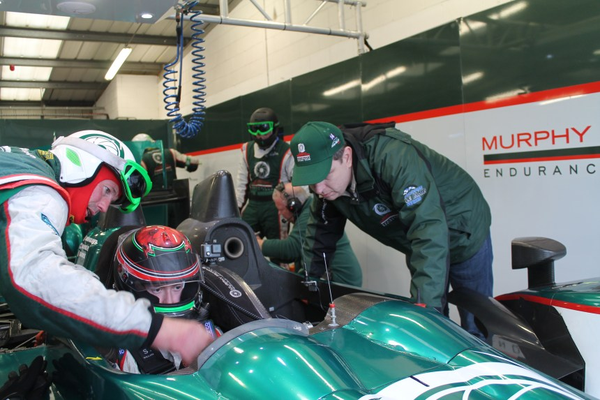 Cometh The Hour, Cometh The Man! final words of advice from Greg before leaving the pitlane for my first ever LMP2 run.