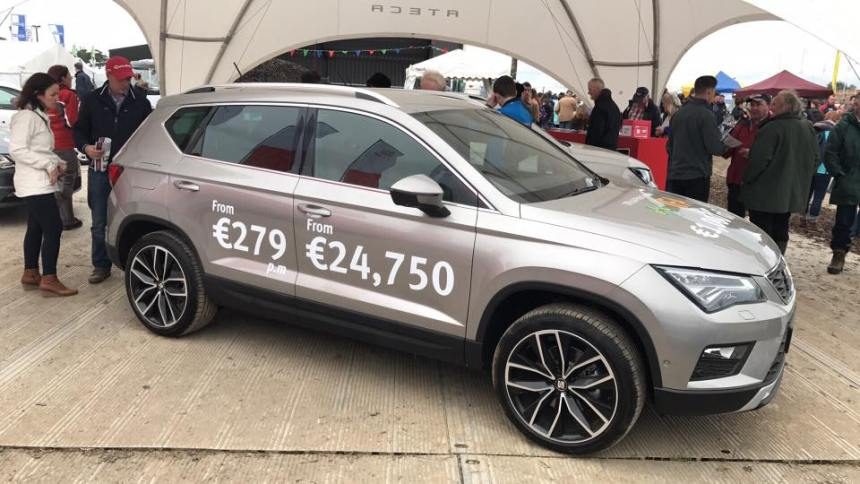 The new SEAT Ateca attracted huge attention at the recent Ploughing Championships. Image from Erik Holstein