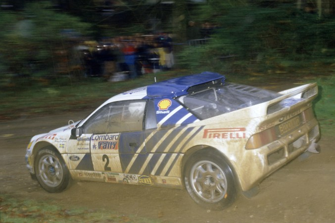 1986 World Rally Championship. Lombard RAC Rally, Great Britain. 16-19 November 1986. Stig Blomqvist/Bruno Berglund (Ford RS200), retired. World Copyright: LAT Photographic Ref: 35mm transparency 86RALLY19