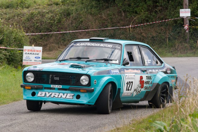 Rob Duggan Stephen Quin 2nd in the hired Escort Robert from Kerry competes in the World Rally Championship
