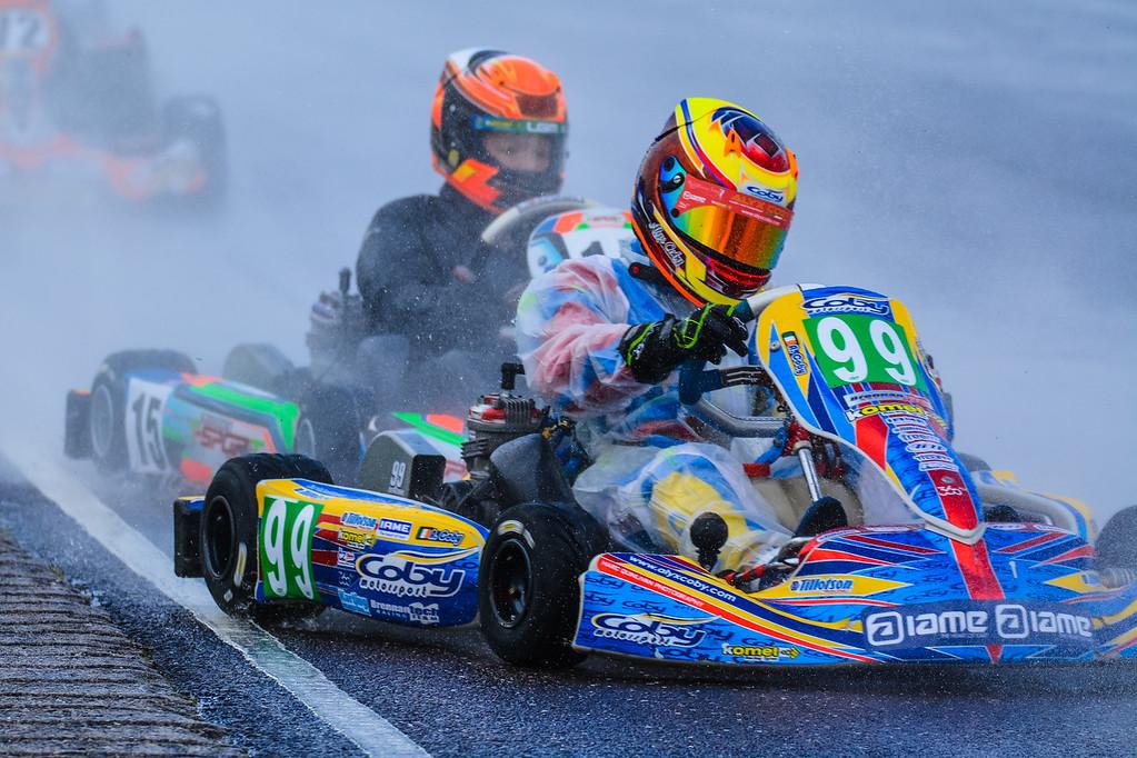 Alyx Coby at Round 8 of the Motorsport Ireland Karting Championship. Photo: Marc Quinlivan
