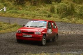 Derek Mackarel - Top Junior Winner of the Rally in his Vauxhall Nova