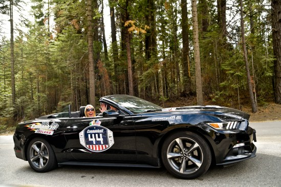 NO FEE PIC 02/11/17: Romy Carroll pictured in Yosemite National Park on the first Cannonbal USA. Ireland's CANNONBALL supercar event is currently blazing a trail through America. A group of sixty Irish Cannonballers jetted off from Dublin to San Francisco this week for the largest and most exhilarating foreign CANNONBALL event. The route takes in San Fransisco, Yosemite National Park, Mammoth Lakes, Death Valley, Las Vegas, Hollywood, Los Angeles, Santa Barbara and Santa Maria and Carmel before looping back to San Francisco and Cannonballers are driving in style in a convoy of high performnce convertible Muscle cars including Ford Mustangs, Cameros and Dodge Chargers and a Shelby. Cannonball is an Irish Superrcar Event which has raised almost €1,000,000 for Irish Childrens Charities. Photo: Kasia Farat