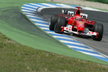 2004 German Grand Prix-Sunday Race, Hockenheim, Germany. 25th July 2004. Michael Schumacher, Ferrari F2004, action. World Copyright LAT Photographic/Lorenzo Bellanca. Digital Image only (a high res version is available on request).