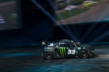 Autosport International Exhibition. National Exhibition Centre, Birmingham, UK. Thursday 12 January 2017. Pat Doran rallycross action in the Live Action Arena, World Copyright: Sam Bloxhaml/LAT Photographic. Ref: _SLB4703