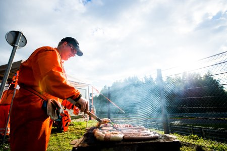 July 27-30, 2017 - Total 24 Hours of Spa, A track marshal cooking dinner