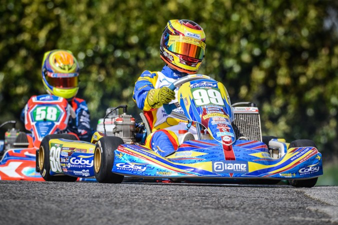 Alyx Coby at Round 3 of the Motorsport Ireland Karting Championship. Photo: Marc Quinlvan