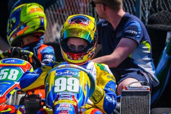 Alyx Coby at Round 4 of the Motorsport Ireland Karting Championship. Photo: Marc Quinlivan