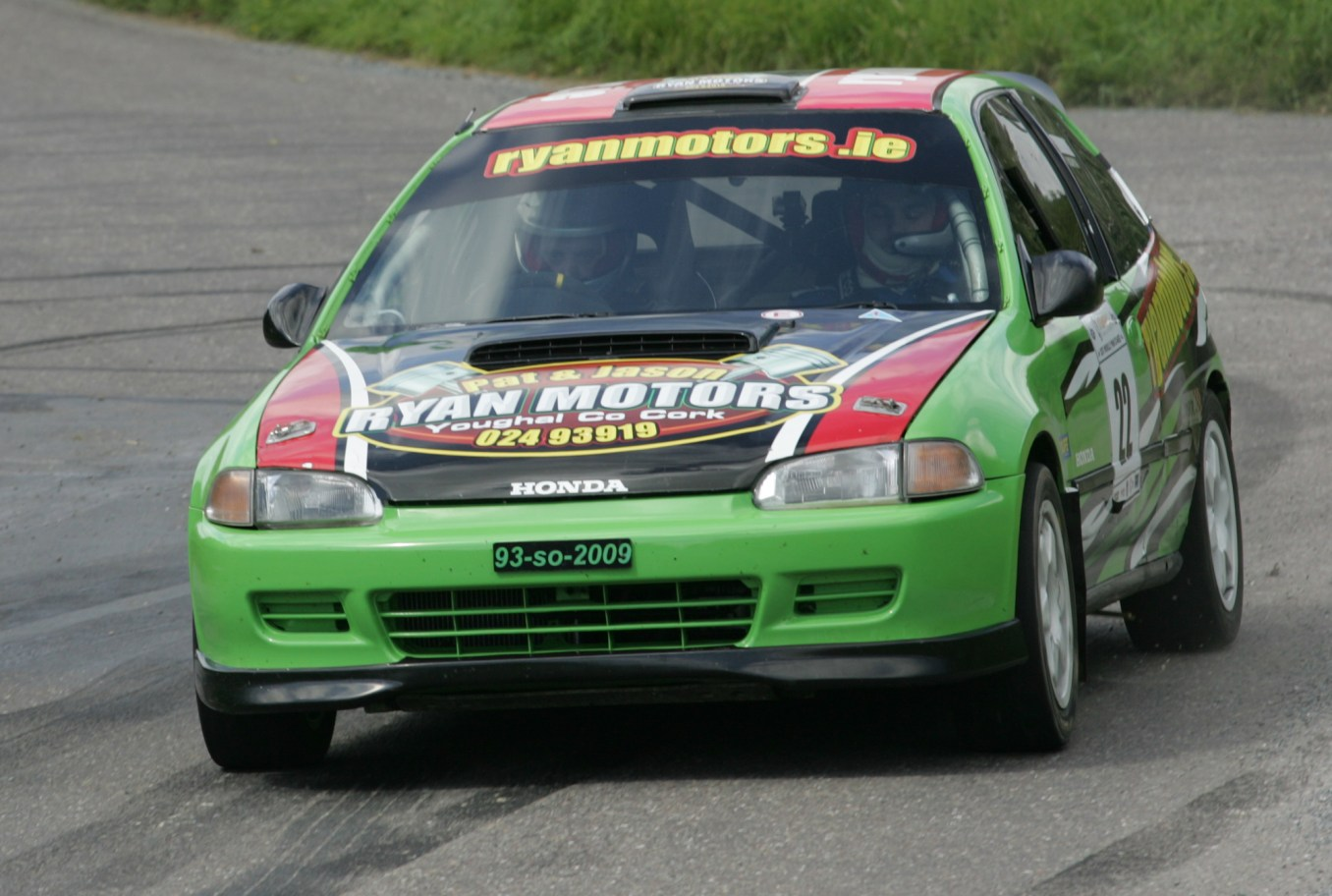 Youghals Jason Ryan in the Honda only drives flat out another of the IMC Motor Clubs Quick men