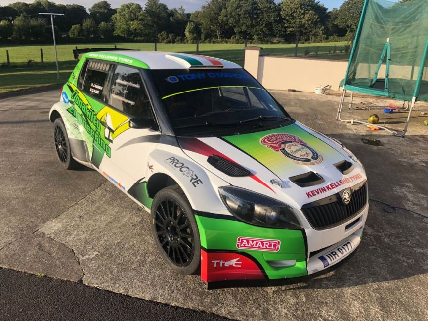 david Guest Debuts his new super 2000 Skoda on The IMC Mini Stages