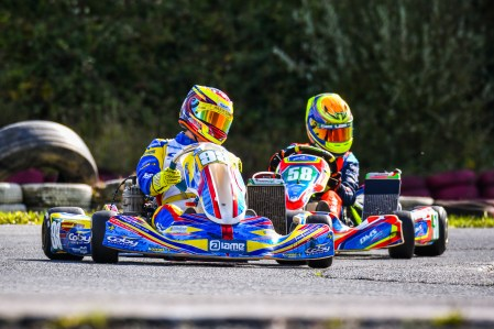 Alyx Coby at the final round of the Motorsport Ireland Karting Championship. Photo: Marc Quinlivan