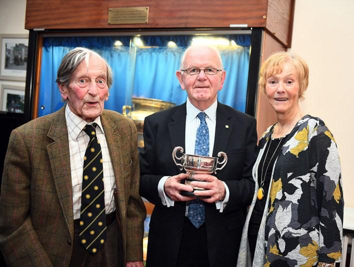 Arthur Jolley with Ian and Hilary Lynas
