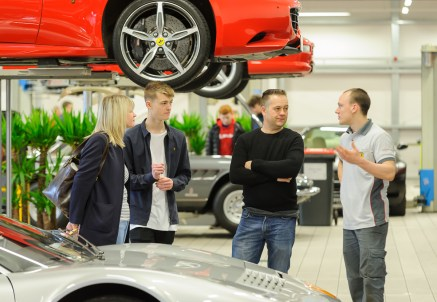 Dick Lovett Swindon - explaining a Ferrari Service Technician apprenticeship