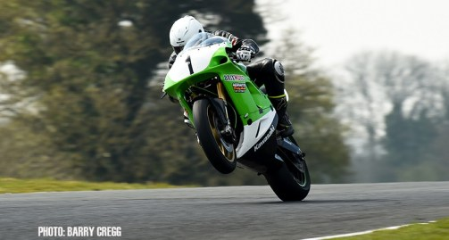 06-04-2019; Chris Campbell, Kawasaki ZXR750, on his way to winning the Classic Superbike race at the Mondello Masters. Dunlop Mondello Masters Rounds 1,2&3, Mondello Park, Donore, Naas, Co. Kildare. Photo Barry Cregg