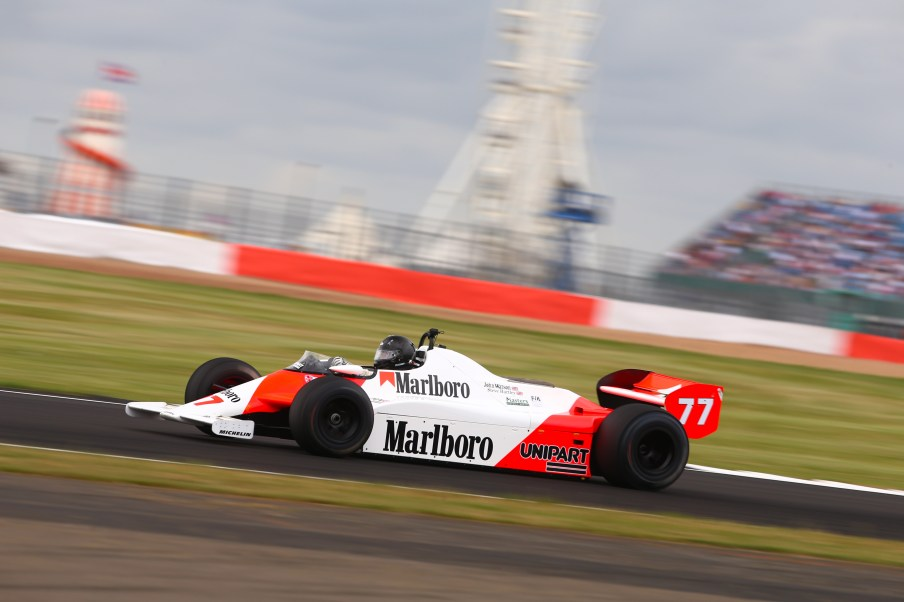 Silverstone Classic 2019 77 HARTLEY Steve, GB, McLaren MP4/1 At the Home of British Motorsport. 26-28 July 2019 Free for editorial use only Photo credit – JEP