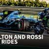 F1 vs MotoGP: Lewis Hamilton and Valentino Rossi swap rides for the day