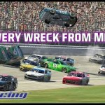 Cars flipping, huge hits   Every wreck from the Coca-Cola iRacing Series at Michigan