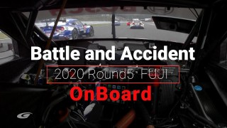 2020 AUTOBACS SUPER GT Round5 たかのこのホテル FUJI GT300km RACE  On Board  Battle and Accident