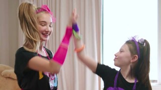 NASCAR Kids throw '80s dance party, featuring Denny Hamlin