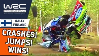 Memorable Moments of WRC Rally Finland 2021 : Famous Wins, Crashes and Jumps!