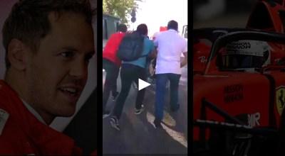 video vettel tifoso sedia rotelle gp spagna