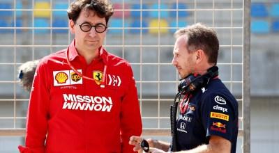 Mattia Binotto, team manager Ferrari F1 e Chris Horner, team manager Red Bull F1 Racing