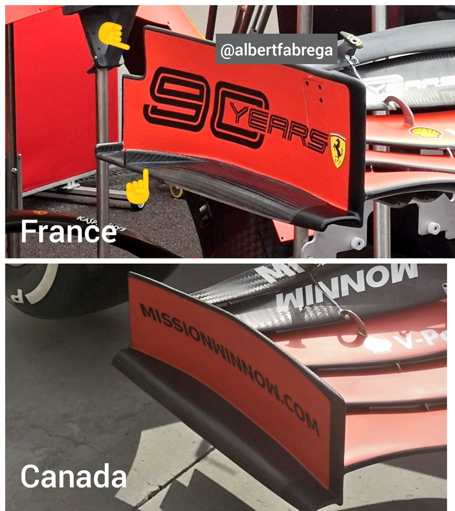 differenze ala anteriore ferrari gp francia