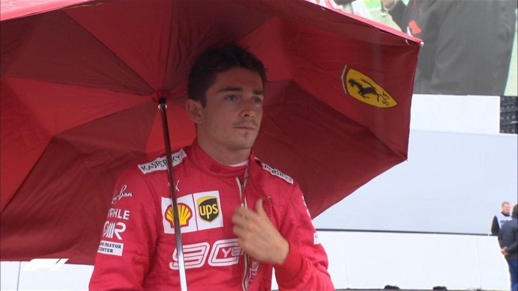 F1 Diretta Gara GP Germania - Leclerc ombrello
