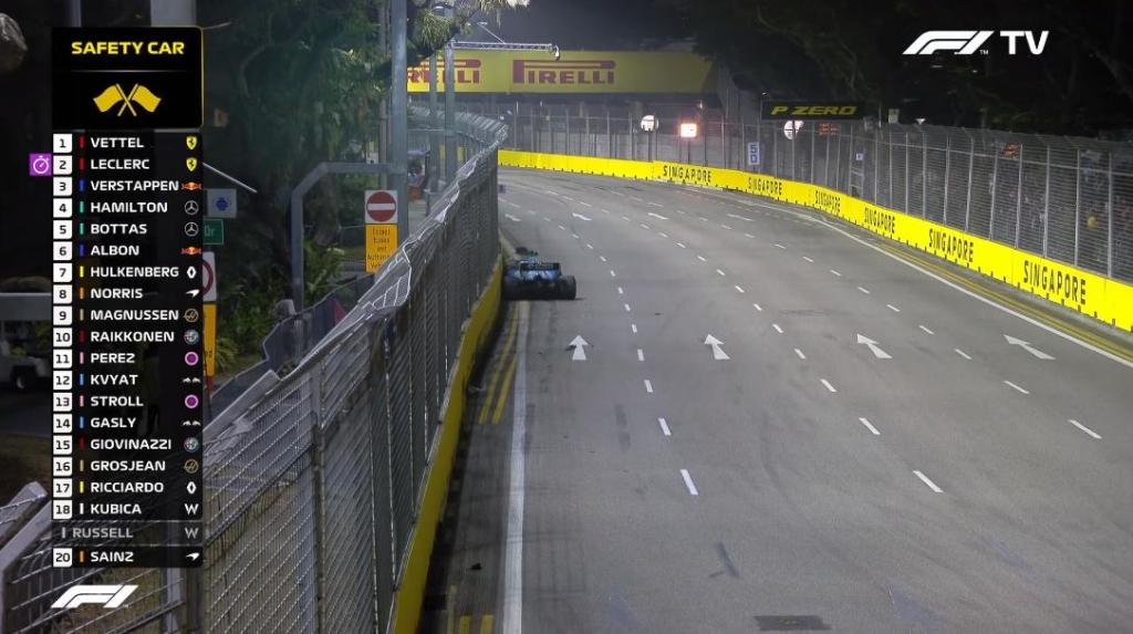 f1 singapore safety car gara