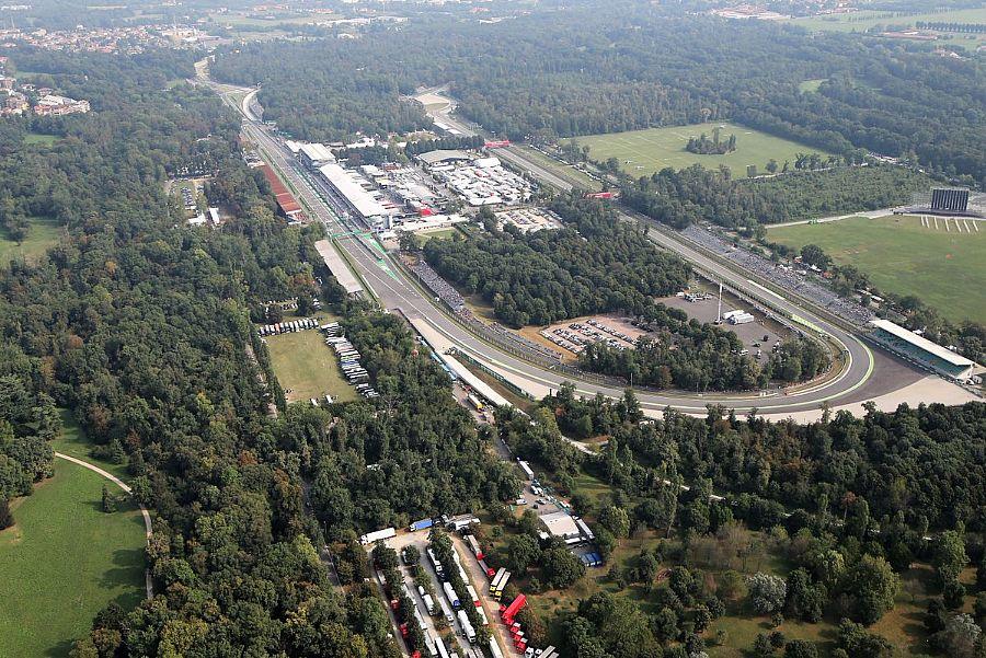 F1 Gp Italia - Monza - Circuito dall'alto - Orari TV