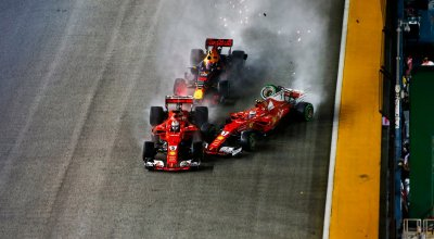 F1 Singapore - Video Incidente Ferrari Verstappen 2017