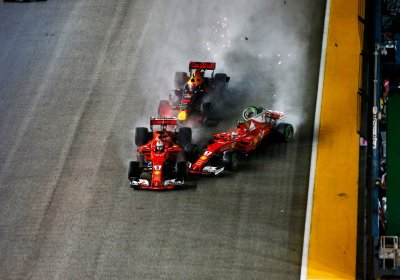 F1 Singapore - Video Incidente Ferrari Verstappen 2017